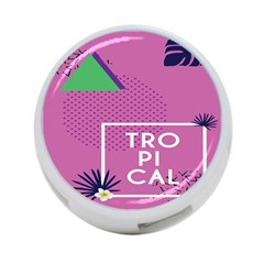Behance Feelings Beauty Polka Dots Leaf Triangle Tropical Pink 4-port Usb Hub (two Sides)  by Mariart