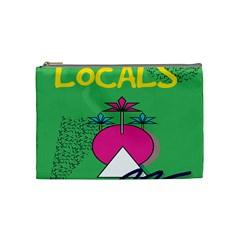 Behance Feelings Beauty Local Polka Dots Green Cosmetic Bag (medium)