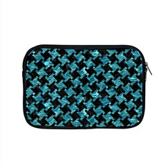 Houndstooth2 Black Marble & Blue Green Water Apple Macbook Pro 15  Zipper Case by trendistuff