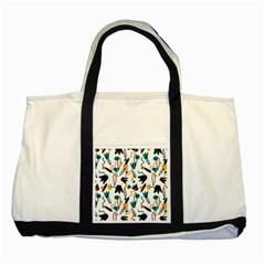 Flowers Duck Legs Line Two Tone Tote Bag