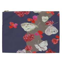 Original Butterfly Carnation Cosmetic Bag (xxl)  by Mariart