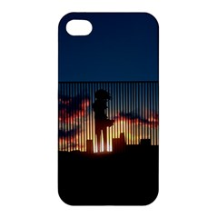 Art Sunset Anime Afternoon Apple Iphone 4/4s Premium Hardshell Case by BangZart