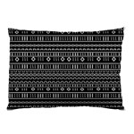Black Modern Mudcloth Pillow Case (Two Sides)
