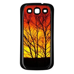 Sunset Abendstimmung Samsung Galaxy S3 Back Case (black) by BangZart