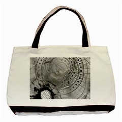Fragmented Fractal Memories And Gunpowder Glass Basic Tote Bag by jayaprime