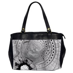 Fragmented Fractal Memories And Gunpowder Glass Office Handbags (2 Sides)  by jayaprime