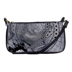 Fragmented Fractal Memories And Gunpowder Glass Shoulder Clutch Bags by jayaprime