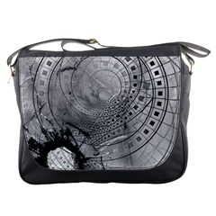 Fragmented Fractal Memories And Gunpowder Glass Messenger Bags by jayaprime