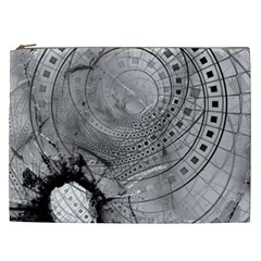 Fragmented Fractal Memories And Gunpowder Glass Cosmetic Bag (xxl)  by jayaprime