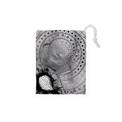 Fragmented Fractal Memories And Gunpowder Glass Drawstring Pouches (xs)  by jayaprime