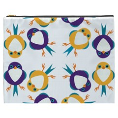 Pattern Circular Birds Cosmetic Bag (xxxl)  by BangZart