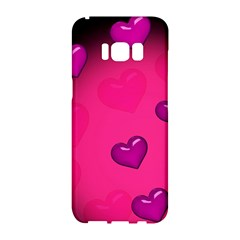 Background Heart Valentine S Day Samsung Galaxy S8 Hardshell Case  by BangZart