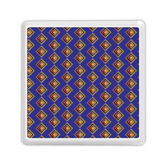 Blue Geometric Losangle Pattern Memory Card Reader (square)  by paulaoliveiradesign