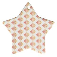Geometric Losangle Pattern Rosy Ornament (star) by paulaoliveiradesign