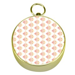 Geometric Losangle Pattern Rosy Gold Compasses by paulaoliveiradesign