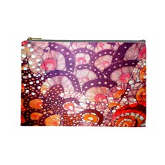 Colorful Art Traditional Batik Pattern Cosmetic Bag (large)  by BangZart