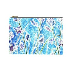 Art Batik Flowers Pattern Cosmetic Bag (large)  by BangZart
