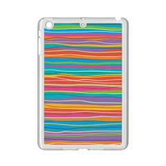 Colorful Horizontal Lines Background Ipad Mini 2 Enamel Coated Cases by TastefulDesigns