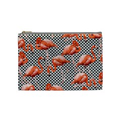 Flamingo Cosmetic Bag (medium) by PattyVilleDesigns