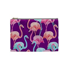 Flamingo Cosmetic Bag (medium) by PattyVilleDesigns