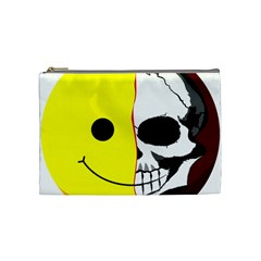 Skull Behind Your Smile Cosmetic Bag (medium)  by BangZart
