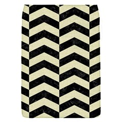 Chevron2 Black Marble & Beige Linen Flap Covers (s)  by trendistuff