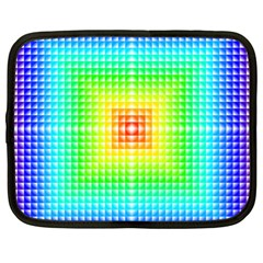 Square Rainbow Pattern Box Netbook Case (xl)