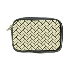 Brick2 Black Marble & Beige Linen (r) Coin Purse by trendistuff