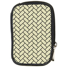 Brick2 Black Marble & Beige Linen (r) Compact Camera Cases by trendistuff