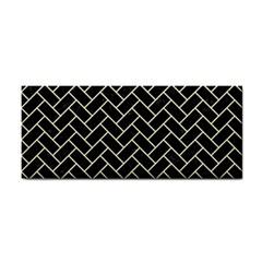 Brick2 Black Marble & Beige Linen Cosmetic Storage Cases by trendistuff