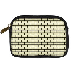 Brick1 Black Marble & Beige Linen (r) Digital Camera Cases by trendistuff