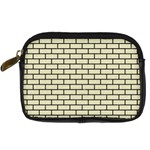 BRICK1 BLACK MARBLE & BEIGE LINEN (R) Digital Camera Cases Front