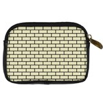 BRICK1 BLACK MARBLE & BEIGE LINEN (R) Digital Camera Cases Back