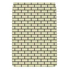 Brick1 Black Marble & Beige Linen (r) Flap Covers (l)  by trendistuff