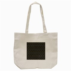 Brick1 Black Marble & Beige Linen Tote Bag (cream) by trendistuff