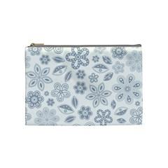 Flower Cosmetic Bag (medium) by PattyVilleDesigns