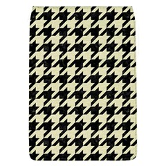 Houndstooth2 Black Marble & Beige Linen Flap Covers (l)  by trendistuff