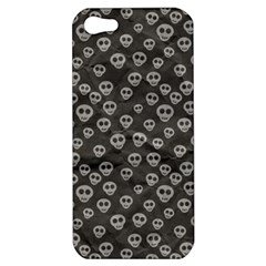 Skull Halloween Background Texture Apple Iphone 5 Hardshell Case by BangZart