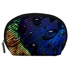 Peacock Feather Retina Mac Accessory Pouches (large)