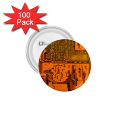 Circuit Board Pattern 1 75  Buttons (100 Pack)