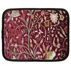 Crewel Fabric Tree Of Life Maroon Netbook Case (xl)