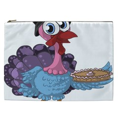 Turkey Animal Pie Tongue Feathers Cosmetic Bag (xxl)  by Nexatart