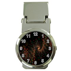Multicolor Fractals Digital Art Design Money Clip Watches