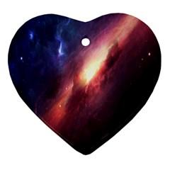 Digital Space Universe Ornament (heart)