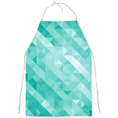Bright Blue Turquoise Polygonal Background Full Print Aprons by TastefulDesigns