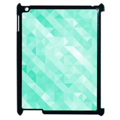 Bright Green Turquoise Geometric Background Apple Ipad 2 Case (black)