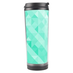 Bright Green Turquoise Geometric Background Travel Tumbler