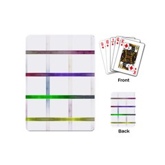 Blurred Lines Playing Cards (mini)  by designsbyamerianna