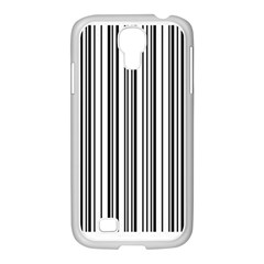 Barcode Pattern Samsung Galaxy S4 I9500/ I9505 Case (white) by BangZart