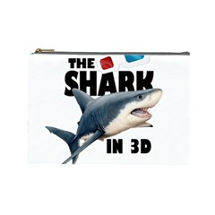 The Shark Movie Cosmetic Bag (large)  by Valentinaart